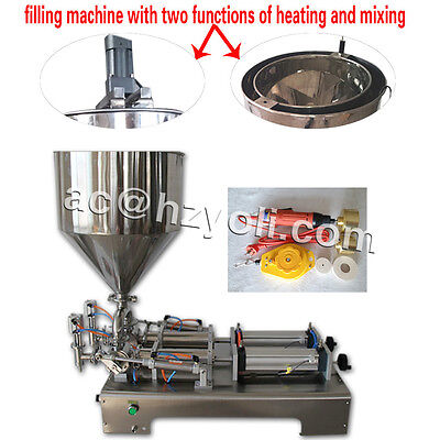30-300ml paste filling machine for sauce,honey,toothpaste with mixer,heater