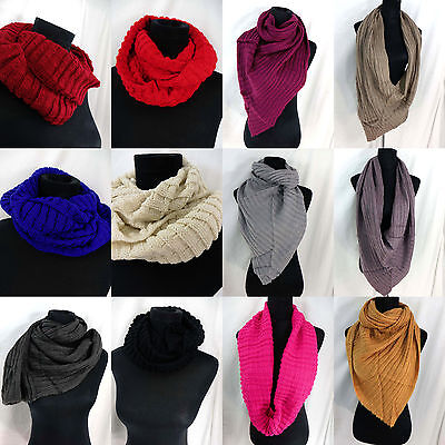 US SELLER-lot of 10 Wholesale Scarves and Shawl cold weather knit infinity scarf