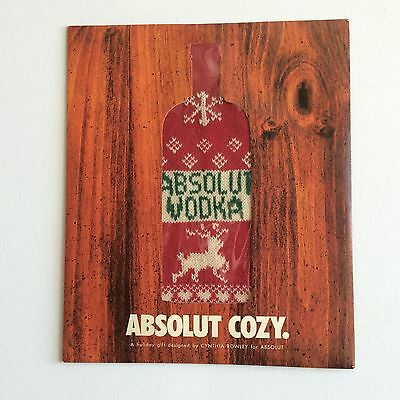 NEW Absolut Vodka Cozy Bottle Sweater by Cynthia Rowley Rare Hard to Find HTF