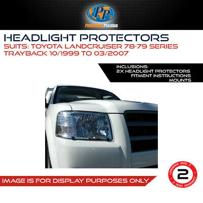 Headlight Protectors To Suit Toyota Land Cruiser 78/79 Series 99-07 Cover 4Wd