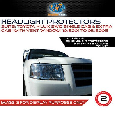 Headlight Protectors To Suit Toyota Hilux 2Wd & 4Wd 01-05