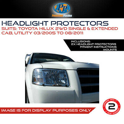 Headlight Protectors To Suit Toyota Hilux My05 Sr5 All Models 05-11 Cover 4Wd