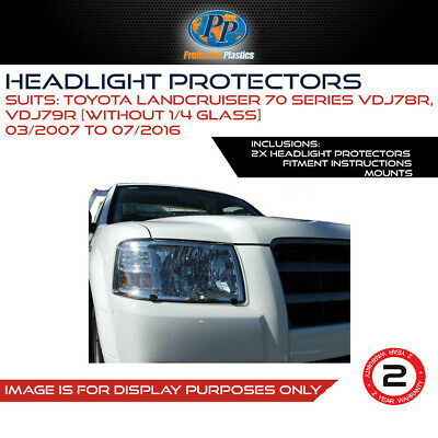 Headlight Protectors To Suit Toyota Land Cruiser 70 Series 07 - Onwards