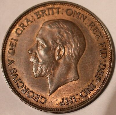 GB 1935 George V Penny Uncirculated Coin