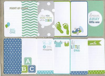 """x12 ''Little Man/Baby Boy'' PROJECT LIFE CARDS  2"""" x 4"""""""