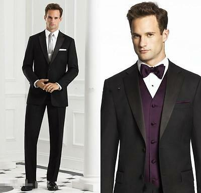New Black Tuxedos Best Man Suits Men Wedding Suits Formal Party Suits Groom
