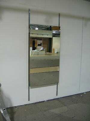"""last One"" Wall Fitting Shop Display Mirror, Adjustable Uprights"