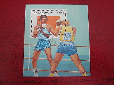 Nicaragua - 1983 Boxing (Air) - Unmounted Used - Ex Condition