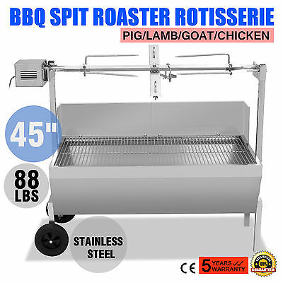 88 Lbs Lamb Grill Edelstahl Spießbratengrill Outdoor Barbecue Electric BBQ Camp