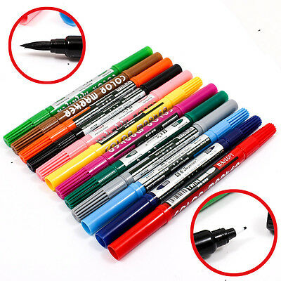 1PCS Art and Graphic Drawing Manga Twin Tip Brush & Fine Sketch Marker Pen A1791