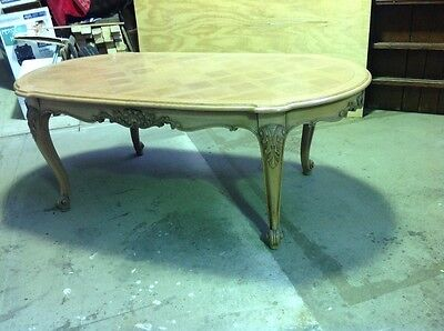 Antique French oak dining table vintage