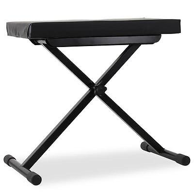 Auna Keyboard Piano Seat Height Adjustable Bench Stool *free P&p Special Offer