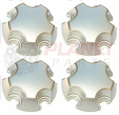 Holden Commodore VL VN VP VR SILVER Chaser Interceptor Centre Caps Set of 4 15""