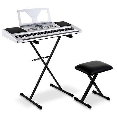 New Studio Foldable Piano Stand + Digital Keyboard + Performance Bench Stage Kit