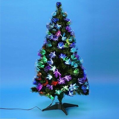 Sapin de Noël fibre optique multicolore 90 cm
