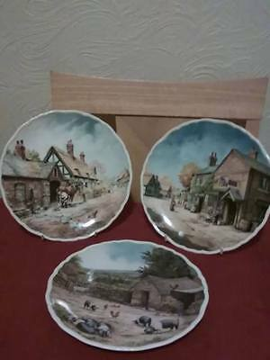 royal doulton 3 x plates from a village life collection