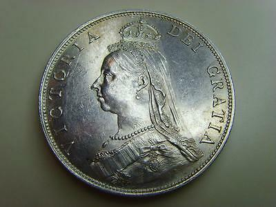1887 Silver Florin Queen Victoria British Coin Great Britain Two Shillings