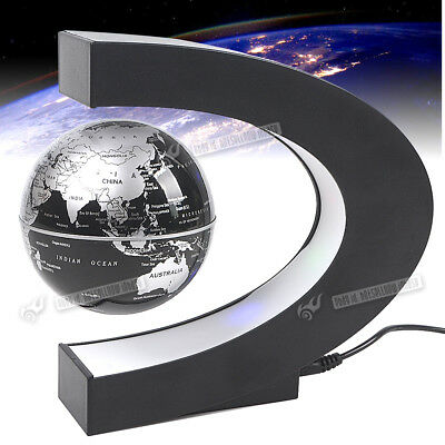 Floating Globe Rotating Magnetic Suspending World Map Earth Geography