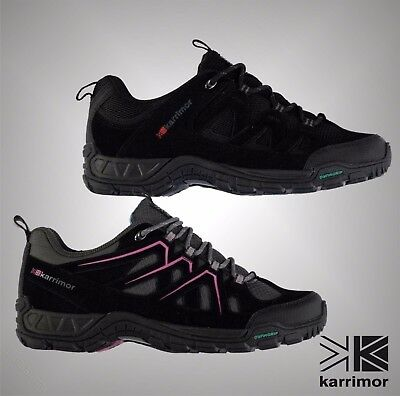 New Juniors Boys Girls Karrimor Lace Up Breathable Summit Walking Shoes Size 3-6