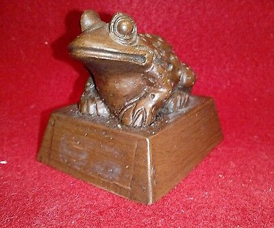 Small Handcrafted Wood Frog By Red Mill Mfg