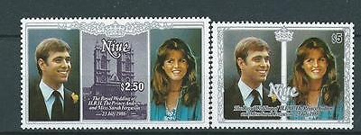 Royal Wedding mint stamp from Niue. 1986. SG 625 + $5 example.