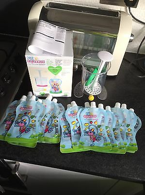 Fill N Squeeze starter pack Baby Weaning With 6 used pouches + 9 new pouches
