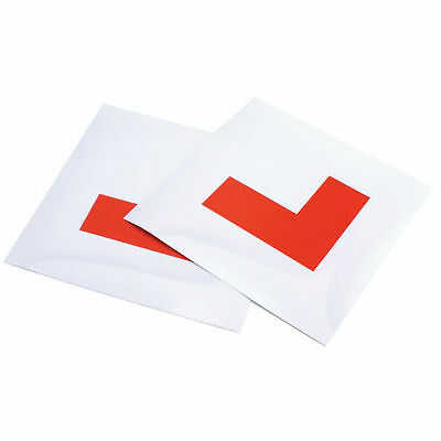 """LEARNER """"L"""" PLATES x 2 SUPERB QUALITY NEXT DAY DISPATCH FREE POSTAGE"""