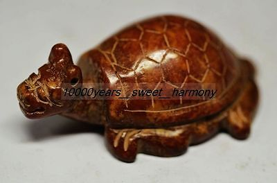 Ancient Chinese Old Jade Hand Carved Dragon Turtle Statue G8