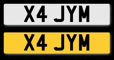 private number plate X4 Jym