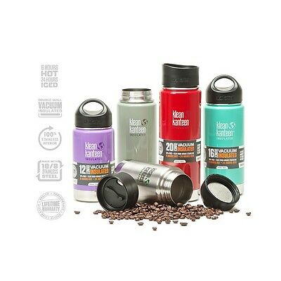 Klean Kanteen Vacuum Insulated with Stainless Wide Loop Cap