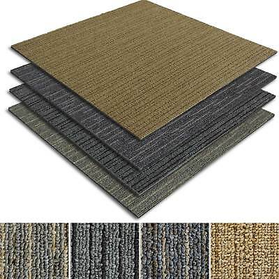 Striped Carpet Tiles Commercial Contract Flooring Retail Domestic Carpeting Mats