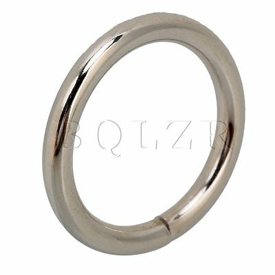 20pcs Metal O-Ring 25mm Dia Paracord Survival Keychains Leashes Collars Crafts