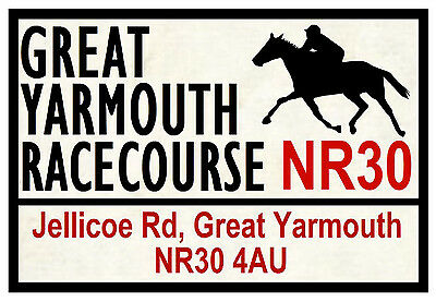 Horse Racing Road Signs (Yarmouth) - Fun Souvenir Novelty Fridge Magnet - Gift