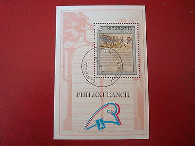 Nicaragua - 1989 French Revolution -  Minisheet - Unmounted Used - Ex. Condition