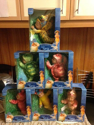 Anne Geddes soft bean filled doll under the sea Set of 6 Rare brand new