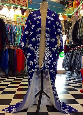 Beautiful Full Length Original Vintage Print Kimono Freesize