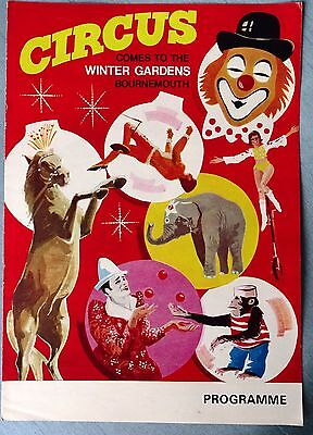 Winter Gardens Bournemouth Circus Programme
