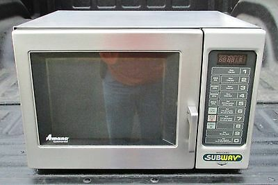 Used 2002 ACP Amana RFS10SW2 1700w Stainless Steel Commercial Microwave Oven