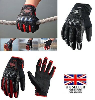 New Fox Waterproof Motorbike Motorcycle Gloves Carbon Knuckle Protection Winter