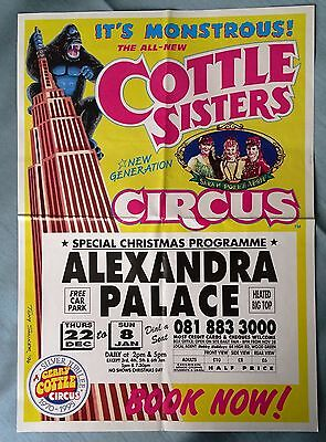 1998 Cottle Sisters Christmas Circus Poster