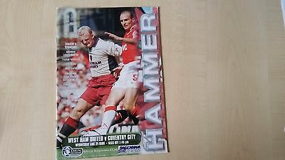 West Ham v Coventry 1996/97 Programme