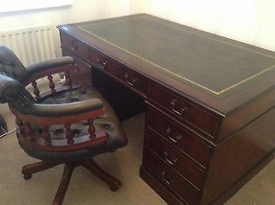 Chesterfield Executive desk chair Excellent Condition