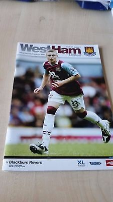 WEST HAM UNITED V BLACKBURN AUG 2008 programme
