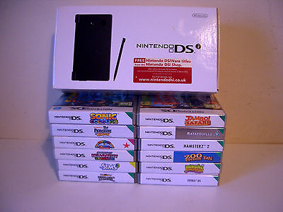 NINTENDO DSi BLACK HANDHELD GAMES CONSOLE AND ACCESSORIES