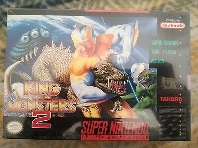 King Of Monsters 2 Snes Super Nintendo New Factory Sealed Ntsc Mint