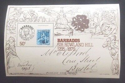 Barbados-1979-MS 620-Rowland Hill Minisheet-MNH