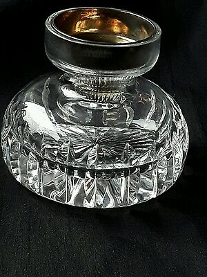 Stuart glass candle holder with its metal insert