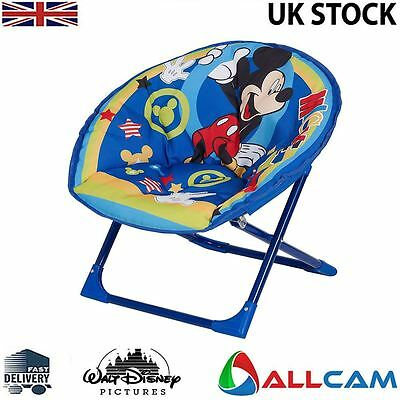 Disney Moon Chair Mickey Mouse, Folding Round Soft Padded Chair for toddlers
