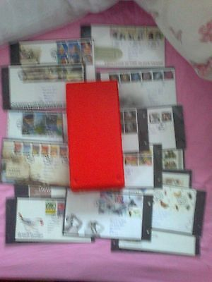 "FIRST DAY COVER ALBUM + 30 FIRST DAY COVERS as pictured ""99P""START NO RESERVE**"