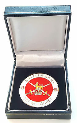 British Army Crested Military EnamelCommemorative Collectors Coin + Gift Box